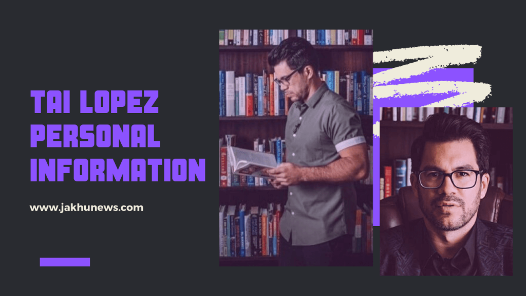 Tai Lopez Personal Information
