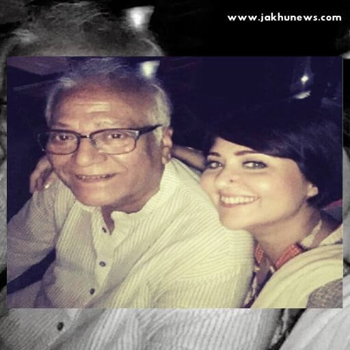 Swastika Mukherjee with her father