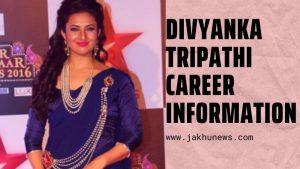 Divyanka Tripathi Career Information