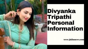 Divyanka Tripathi Personal Information