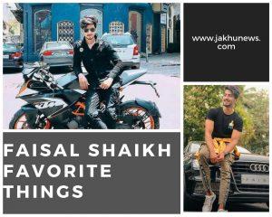 Faisal Shaikh Favorite Things
