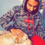 Karan Sandhawalia with his pet